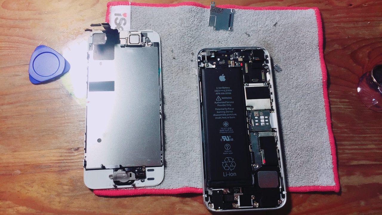 iPhone SE 螢幕進水處理